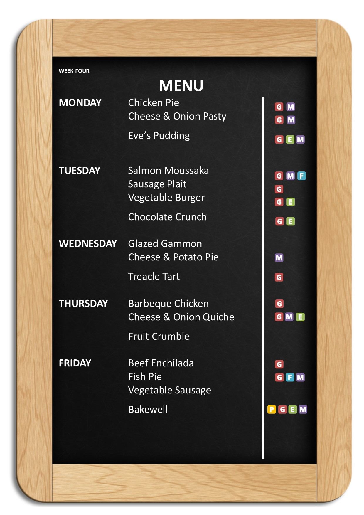 Autumn Winter Menus 2018 – Week 4