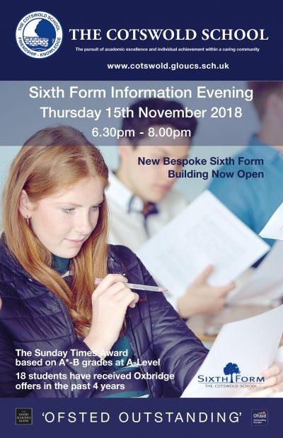 sixth form information evening